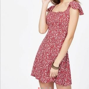 ROMWE ties red floral dress
